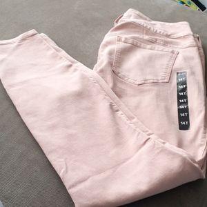 Torrid nwt Dusty Rose jegging jeans skinny stretch